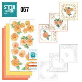 "BASTELSETS / CRAFT KITS te borduren kaart set ""Roses"""