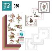 """BASTELSETS / CRAFT KITS Card set """"Fantastic Flowers"""" embroidered"""