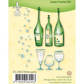 Leane Creatief - Lea'bilities und By Lene Transparent stamp: Wine Party
