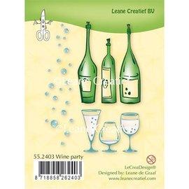 Leane Creatief - Lea'bilities und By Lene Gennemsigtig Stempel: Wine Party