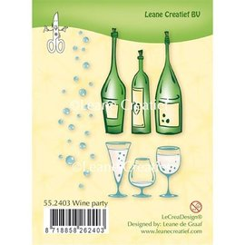 Leane Creatief - Lea'bilities und By Lene Transparent stamp: Wine Party
