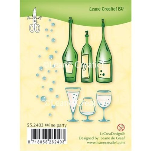 Leane Creatief - Lea'bilities und By Lene Transparant Stempel: Partij van de wijn
