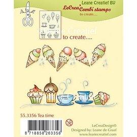 Leane Creatief - Lea'bilities und By Lene Sello transparente: Tiempo del té