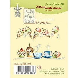 Leane Creatief - Lea'bilities und By Lene Transparant Stempel: Tea Time