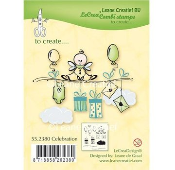 Leane Creatief - Lea'bilities und By Lene Transparent stamp: Celebration