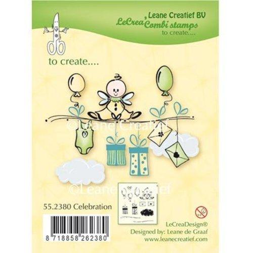 Leane Creatief - Lea'bilities und By Lene Transparant Stempel: Celebration