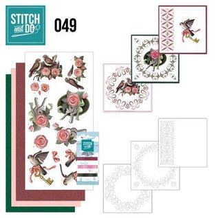 """BASTELSETS / CRAFT KITS Card set """"birds"""" embroidered"""