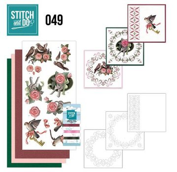 "BASTELSETS / CRAFT KITS ricamare mappa Sito ""Uccelli"""