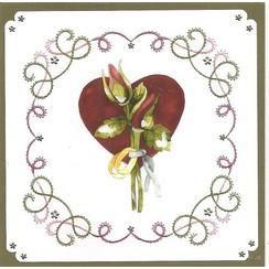 """para bordar conjunto de tarjeta """"boda"""""""