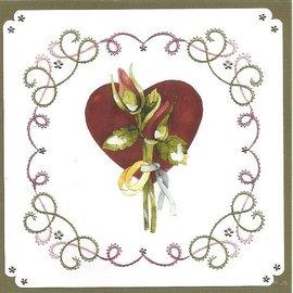 """BASTELSETS / CRAFT KITS Card set """"Wedding"""" embroidered"""