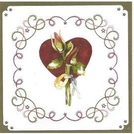 "BASTELSETS / CRAFT KITS a ricamare Card Set ""Matrimonio"""
