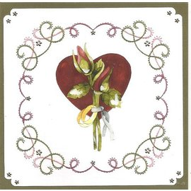 "BASTELSETS / CRAFT KITS te borduren Card Set ""Wedding"""