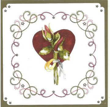 "BASTELSETS / CRAFT KITS Card set ""Wedding"" embroidered"