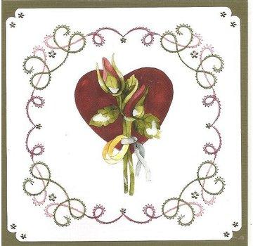"BASTELSETS / CRAFT KITS te borduren Card Set ""Wedding"""