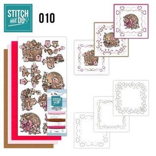 """BASTELSETS / CRAFT KITS Card set """"Love"""" embroider"""