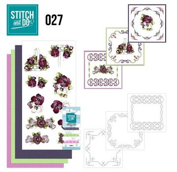 "BASTELSETS / CRAFT KITS a ricamare Card Set ""Fiore"""