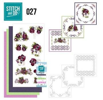 """BASTELSETS / CRAFT KITS at brodere Card Set """"Flower"""""""