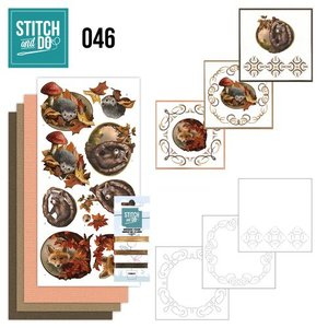 "BASTELSETS / CRAFT KITS Card set ""Autumn"" embroidered"