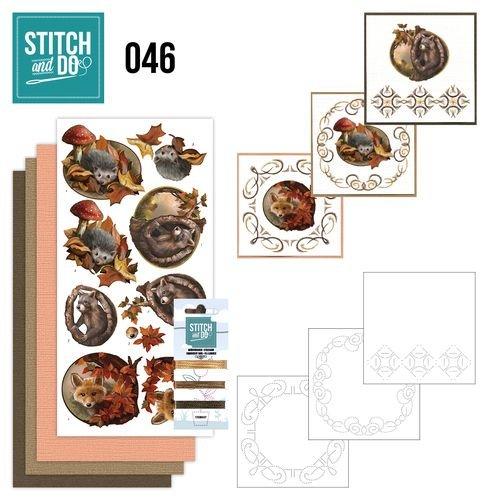 BASTELSETS / CRAFT KITS à brodent ensemble carte « Automne »