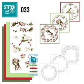 "BASTELSETS / CRAFT KITS Kartenset ""Rosen"" zum besticken"