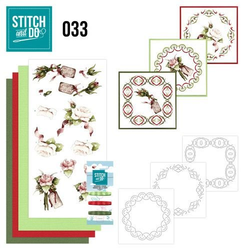 "BASTELSETS / CRAFT KITS Card set ""Rosen"" embroidered"