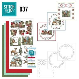BASTELSETS / CRAFT KITS Card set for embroidery, Christmas theme