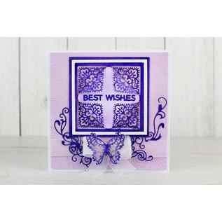 Tattered Lace Ponsen sjabloon: top vier hoeken