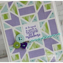 Taylored Expressions Stamping template: Quilted frame