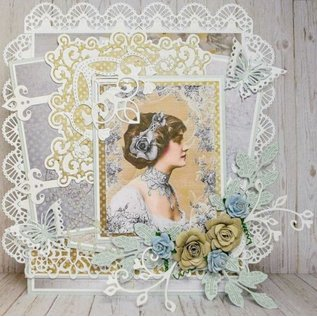 Joy!Crafts / Jeanine´s Art, Hobby Solutions Dies /  Ponsen sjabloon: bovenrand