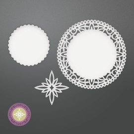 CREATIVE EXPRESSIONS und COUTURE CREATIONS Stamping template: Northstar Doily Set