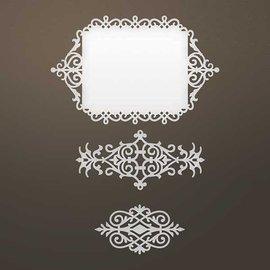 CREATIVE EXPRESSIONS und COUTURE CREATIONS Modèle de poinçonnage: cadre décoratif et ornements Intricate