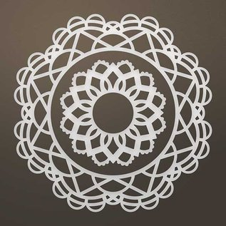 CREATIVE EXPRESSIONS und COUTURE CREATIONS Stamping template: Filigree doily SET