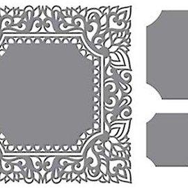 CREATIVE EXPRESSIONS und COUTURE CREATIONS plantilla de perforación: Marco decorativo complejo, cuadrado