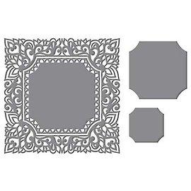 CREATIVE EXPRESSIONS und COUTURE CREATIONS Ponsen sjabloon: Ingewikkeld Decoratief frame, vierkant