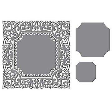 CREATIVE EXPRESSIONS und COUTURE CREATIONS Modello di punzonatura: intricato cornice decorativa, quadrato