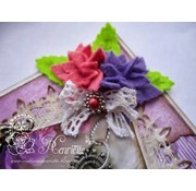 Joy!Crafts / Jeanine´s Art, Hobby Solutions Dies /  Stansning skabelon: 4 blomster med seks kronblade