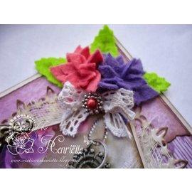 Joy!Crafts / Jeanine´s Art, Hobby Solutions Dies /  Ponsen sjabloon: 4 bloemen met zes bloemblaadjes