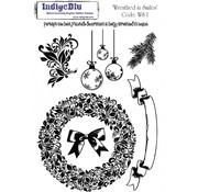 IndigoBlu A5 gummistempel: wreathed I Smiles
