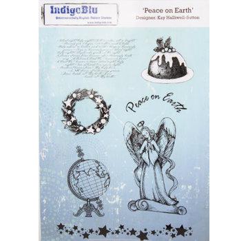 IndigoBlu A5 rubber stempel: Peace On Earth