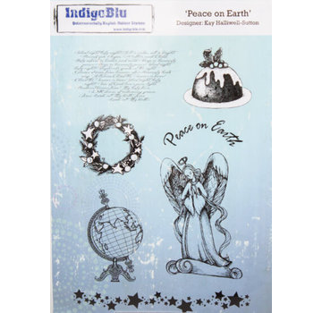 IndigoBlu A5 timbro di gomma: Peace On Earth