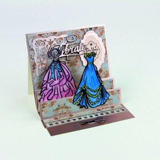 Tonic Studio´s Rubber stamp: Sweet Sashay