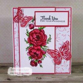 Crafter's Companion Sello de goma: Rose hermosa