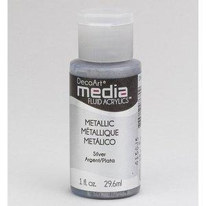 DecoArt media fluïdum acrylics, zilvermetaal