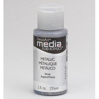 DecoArt media Fluid acrylics, metallic silver