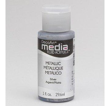 DecoArt acrilici fluido supporti, argento metallico