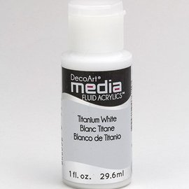 DecoArt media Fluid acrylics, Titanium White