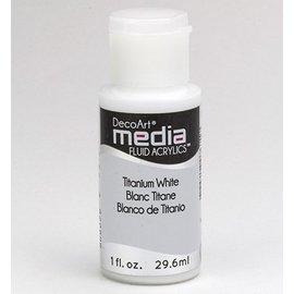 Decoart acrílicos fluidos medios de comunicación, blanco de titanio