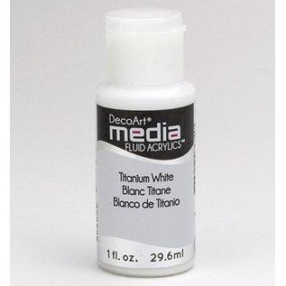 DecoArt media vloeistof acryl, Titanium White