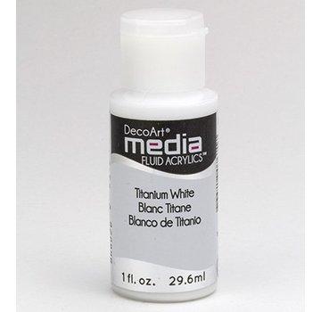 DecoArt acrilici fluido dei media, bianco di titanio