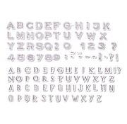 ALADINE Aladine, 54 frimærker, bogstaver og tal + sort mini stempelpude!